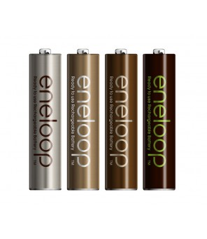 Panasonic Eneloop Tones Earth R6 AA 2000mAh pakraunamos baterijos, 8vnt