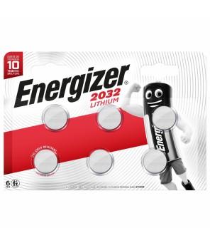 Energizer CR2032 baterijos, 6vnt