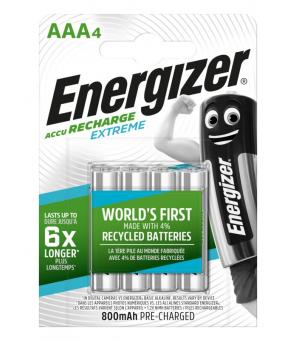 Energizer Extreme 800 mAh AAA HR3 1.2V įkraunamos baterijos 4vnt