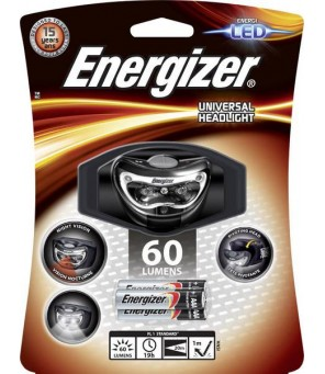 Energizer universalus 3 LED žibintuvėlis ant galvos
