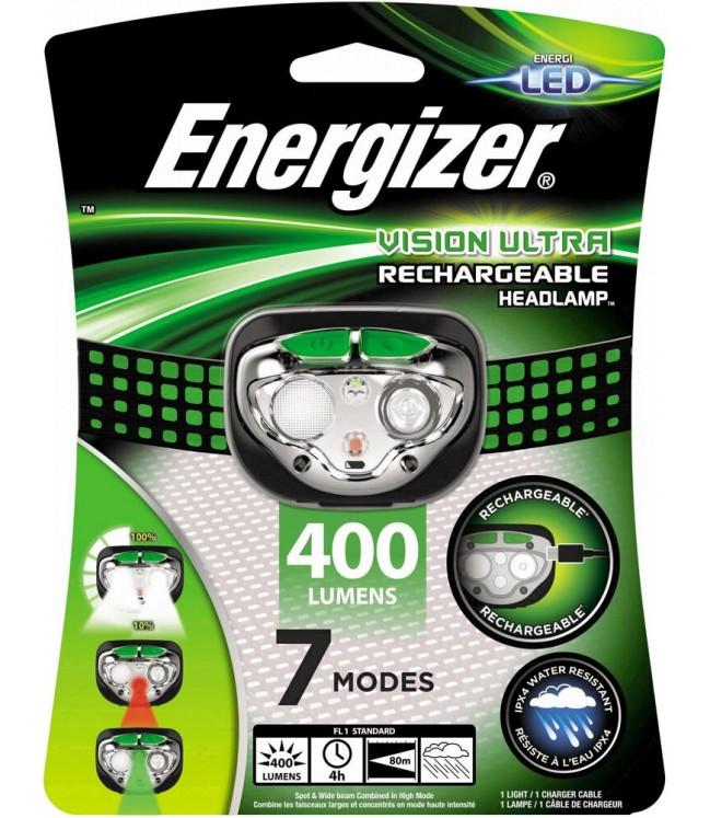 Energizer Vision Ultra HD įkraunamas žibintuvėlis ant galvos