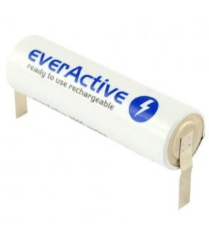 everActive R06 AA 2600mAh pakraunama baterija su lituojamais kontaktais U tipo
