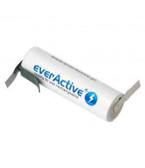 everActive R06 AA 2600mAh pakraunama baterija su lituojamais kontaktais Z tipo