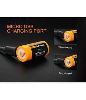 16340 USB pakraunama baterija Fenix ARB-L16-700UP