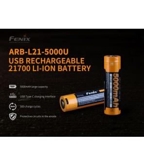21700 baterija FENIX ARB-L21-5000U USB įkraunama