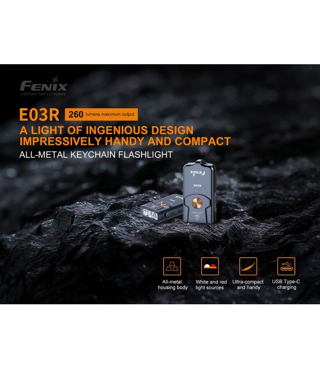 Fenix E03R žibintuvėlis