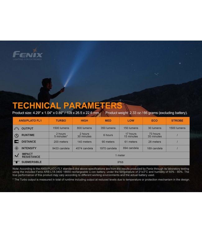 Fenix E28R įkraunamas žibintuvėlis
