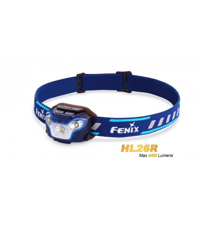 FENIX HL26R žibintuvėlis bėgimui, mėlynas