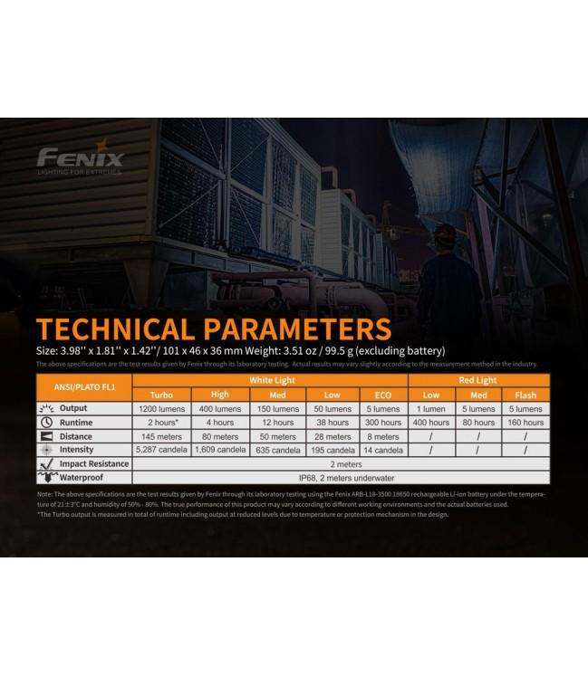 Fenix HM61R žibintuvėlis