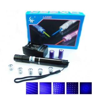 Galingas mėlynas lazeris su galvutėmis