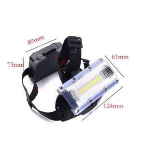 Galingas žibintuvėlis ant galvos COB LED