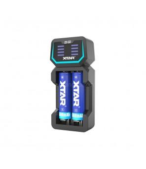 Greito krovimo kroviklis ličio baterijoms XTAR D2
