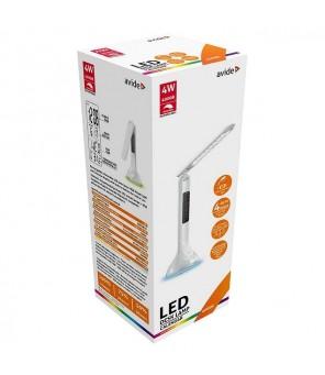 Įkraunamas stalinis reguliuojamas LED šviestuvas su ekranu, baltas