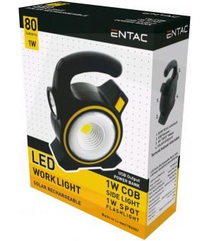 Įkraunamas žibintas ENTAC 1W Solar