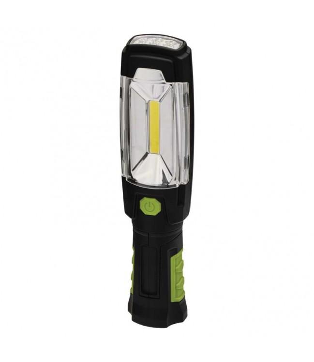 Įkraunamas žibintas 3W COB LED + 6 LED