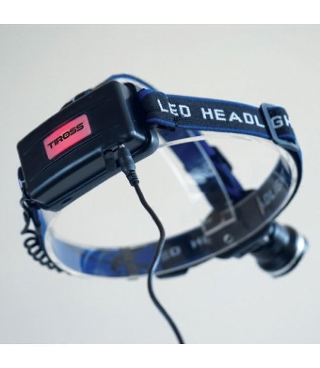 10W LED įkraunamas žibintuvėlis ant galvos