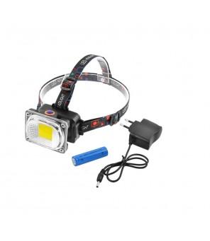 Įkraunamas žibintuvėlis ant galvos COB LED 8W