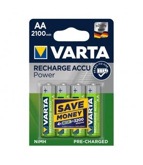 Įkraunamos baterijos AA 2100 mAh (4vnt) VARTA 56706