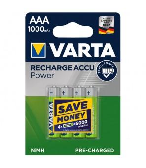 AAA įkraunamos baterijos Longlife Accu AAA 1000 mAh (4vnt) VARTA 5703