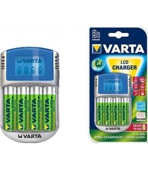Įkroviklis LCD su 4vnt baterijomis AA 2700 mAh VARTA 57070