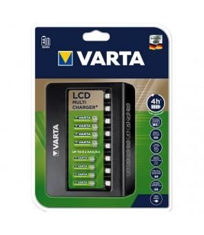 Įkroviklis Varta LCD Multi-Plus 8 kanalų AAA, AA