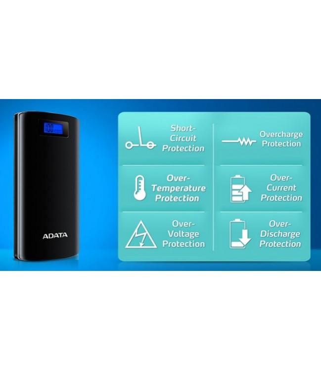 Išorinė baterija ADATA P20000D 20000mAh su žibintuvėliu