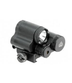 Leapers UTG Sub-compact LED žibintuvėlis ginklui su raudonu lazeriu