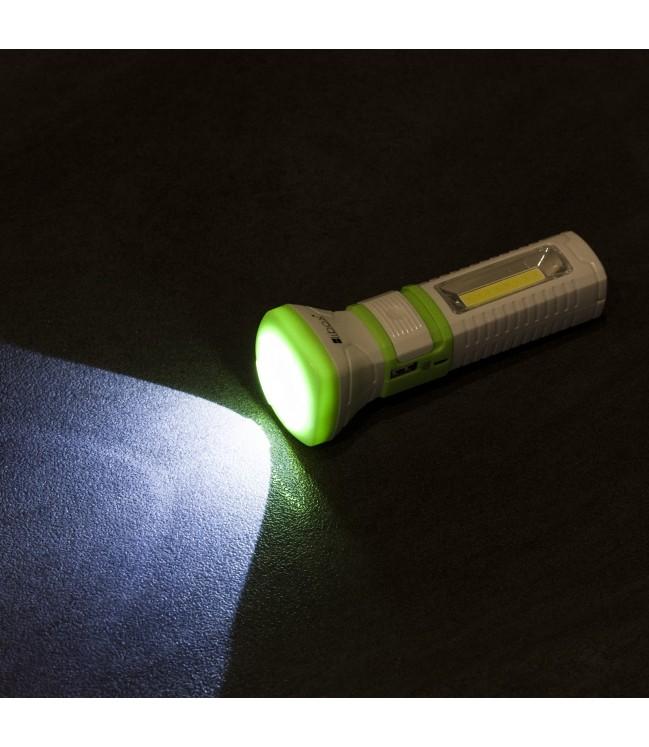 LED COB + 1 LED įkraunamas žibintuvėlis LIBOX
