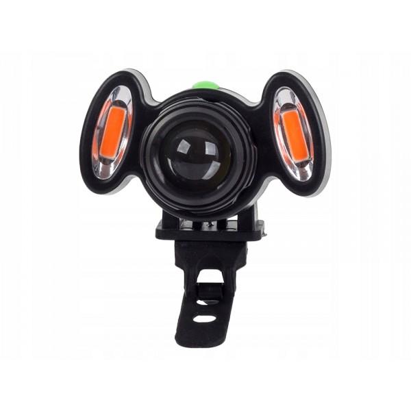 LED dviračio lempa XML T6 2 COB