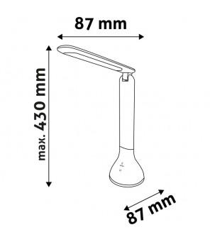 LED Įkraunamas stalinis šviestuvas 4W juodas