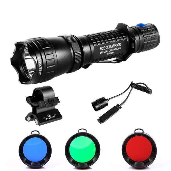 LED prožektorius OLIGHT M20 SX JAVELOT komplektas medžiotojui