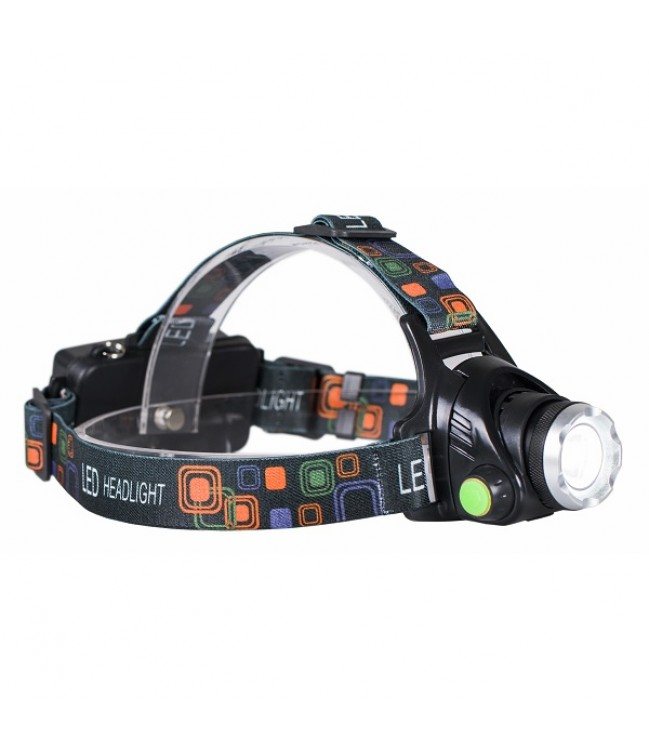 LED žibintuvėlis ZOOM CREE XM-L T6 10W 800lm