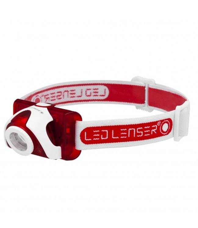 Ledlenser SEO5 LED žibintuvėlis, raudonas
