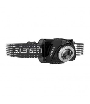 LED Lenser SEO7R galvos žibintuvėlis, juodas