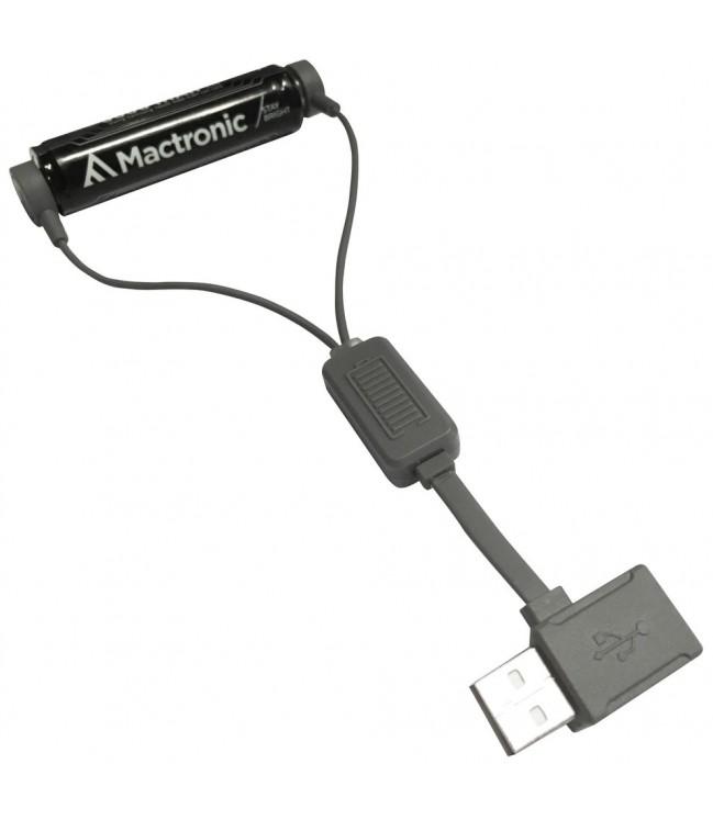 Magnetinis USB Li-ion akumuliatorių įkroviklis su PowerBank funkcija MAC0012