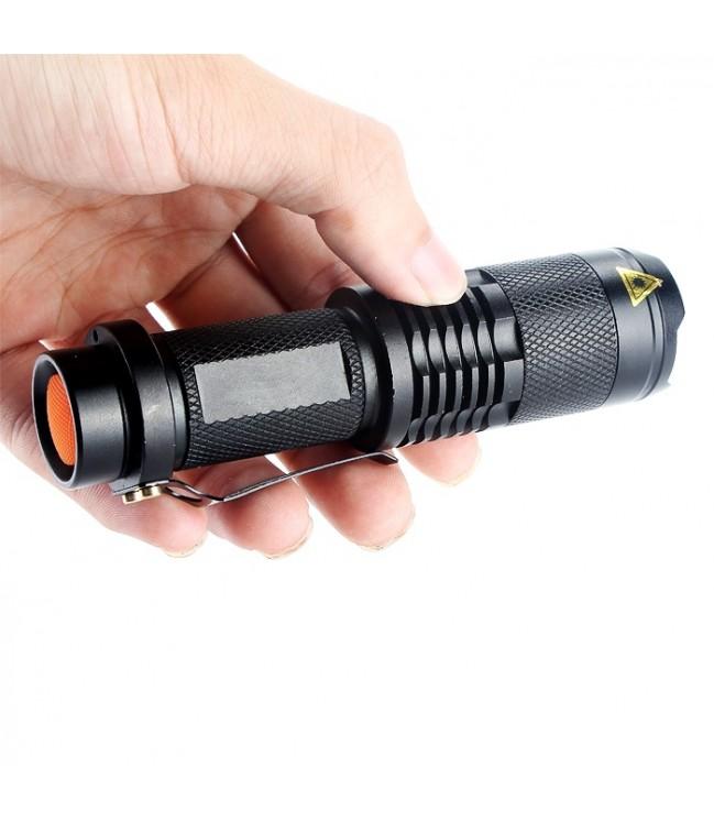 Ultravioletinis neoninis prožektorius 3W su Zoom funkcija