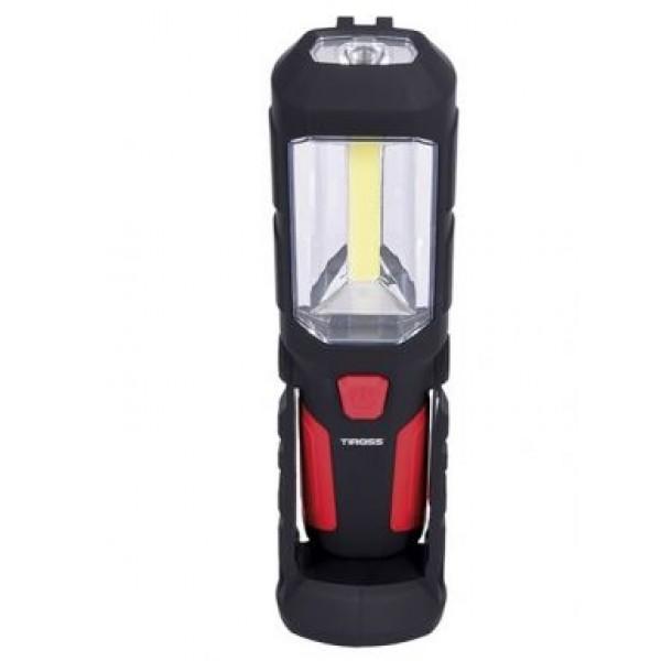 Žibintas nešiojamas su magnetu ir kabliu 3W COB + 1W LED