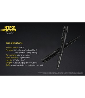 Nitecore NTP21 taktinis rašiklis