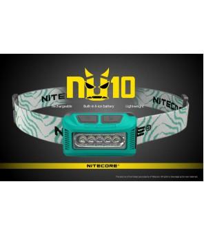 Nitecore NU10 CRI galvos žibintuvėlis, žalias