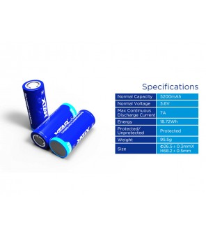 Baterija 26650 5200mah