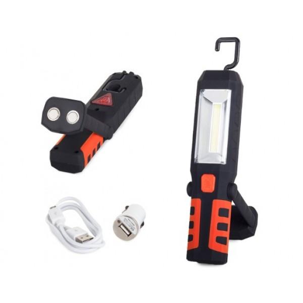Pakraunamas nešiojamas žibintas LED COB 3x1