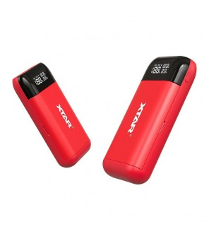 Pakrovėjas ir Powerbank viename XTAR PB2, raudonas