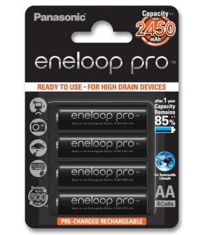 Panasonic Eneloop PRO 2550mAh AA akumuliatorius, 4 vnt.