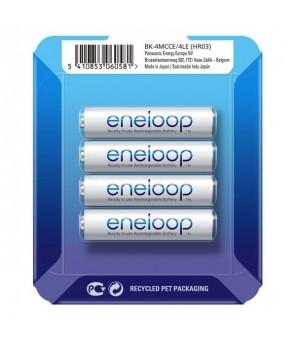 Panasonic Eneloop AAA 750mAh Ni-MH pakraunamos baterijos 4vnt