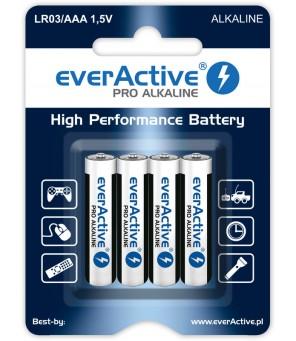 Šarminės AAA baterijos everActive Pro Alkaline LR03   4 vnt