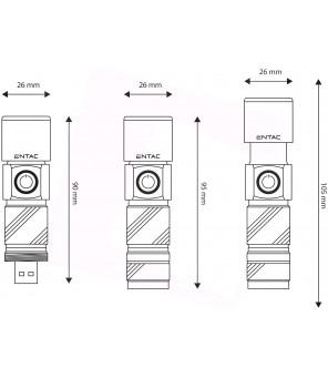 USB įkraunamas aliuminis žibintuvėlis 3W  300lm su fokusavimu