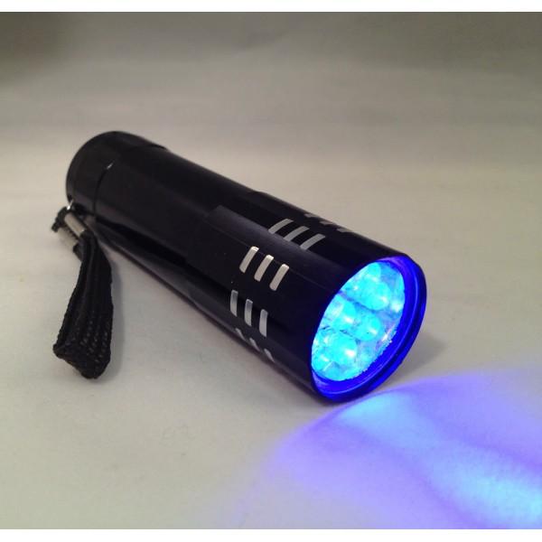 UV žibintuvėlis 9 LED