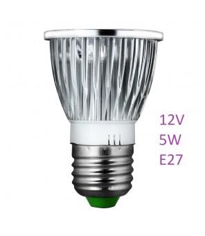 UV lempa 5W 12V E27 lizdas