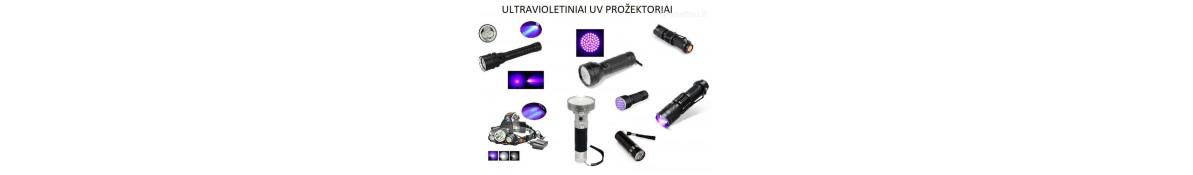 365nm, 395nm ultravioletiniai žibintuvėliai ir prožektoriai