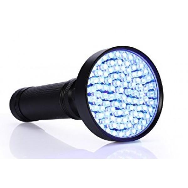 Ultravioletinis 100 UV LED prožektorius žibintuvėlis juodas